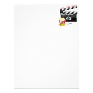 60th Tema do filme do aniversário Papeis De Carta Personalizados