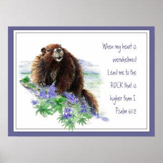 61:2 do salmo da escritura que incentiva o animal  poster