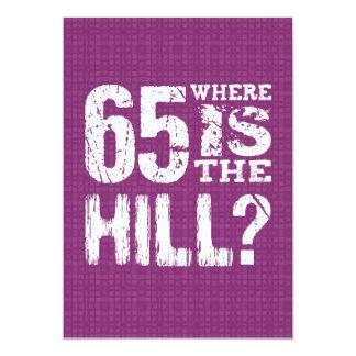 65 onde está aniversário engraçado PU65Z do monte Convite 12.7 X 17.78cm