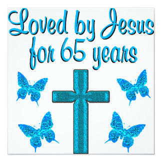 65TH AMOR JESUS CONVITE QUADRADO 13.35 X 13.35CM