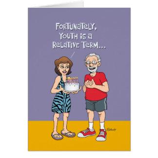 65th aniversário engraçado para ele cartão comemorativo