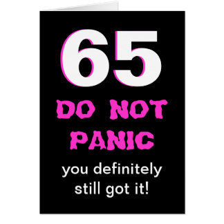 65th cartão de aniversário engraçado para mulheres