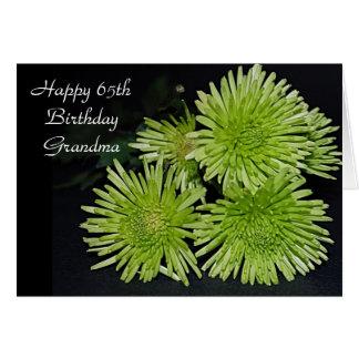 65th Cartão de aniversário para a avó