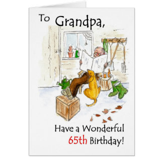 65th Cartão de aniversário para um avô