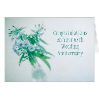 65th Cartão do aniversário de casamento