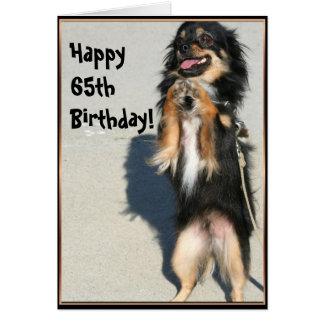 65th cartão feliz da chihuahua do aniversário