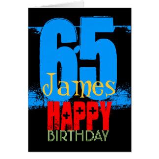 65th cartão personalizado do aniversário