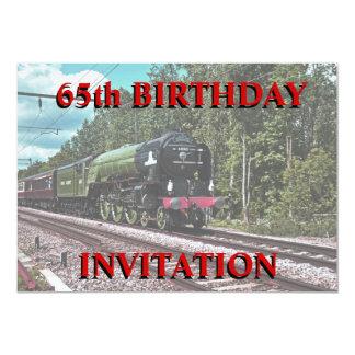 65th Convite do aniversário