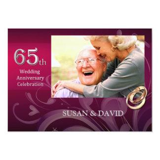 65th Convites da festa de aniversário do casamento