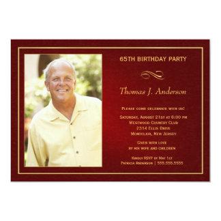 65th convites de festas de aniversários - adicione