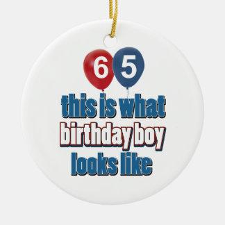 65th design do aniversário enfeites para arvore de natal