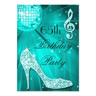 65th Saltos da faísca do aniversário e bola do Convites Personalizado