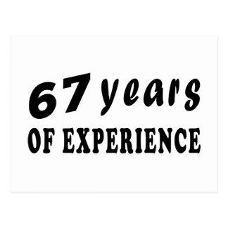 67 anos de experiência cartão postal