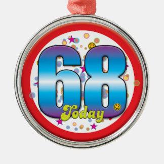 68th Aniversário hoje v2 Enfeites