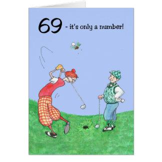 69th Cartão de aniversário para um jogador de