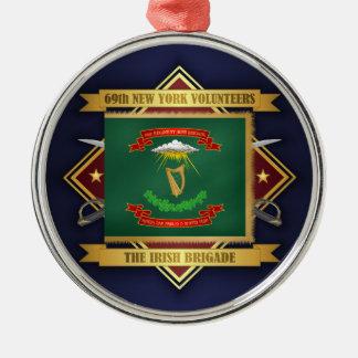 69th Infantaria voluntária de New York Ornamento De Metal