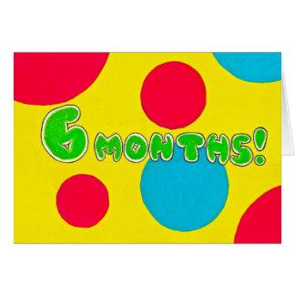 6 cartão meses de aniversário/aniversário da