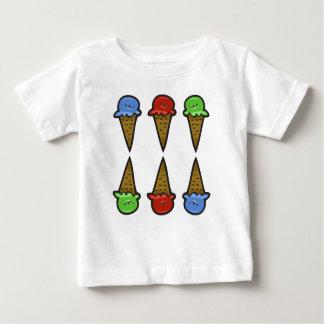 6 cones #2 do sorvete camiseta para bebê