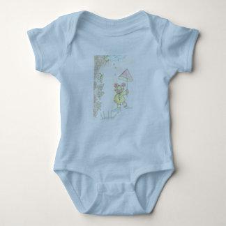 6 do bebê meses de luz do t-shirt - azul body para bebê