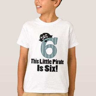 6a camisa bonito do pirata do aniversário para