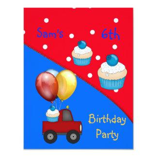 6o Aniversário branco do cupcake do ponto do Convites