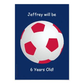 6o Bola de futebol do convite de aniversário