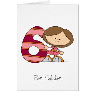 6o Cartão de cartões de aniversários - menina