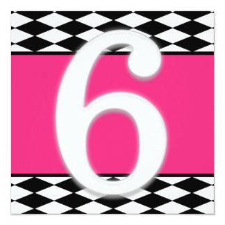 6o convite personalizado do aniversário