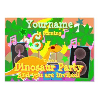6o Convites de festas legal do DJ do dinossauro do