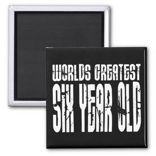 6o Criança de seis anos dos mundos da festa de ani Ima De Geladeira