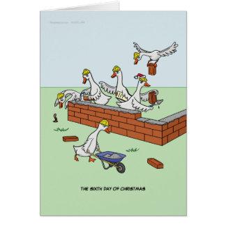6o Dia do cartão do Natal (seis gansos queColocam)