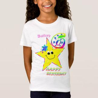 6o O smiley do aniversário Stars a camisa