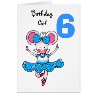 6o presente de aniversário para uma menina, cartão comemorativo
