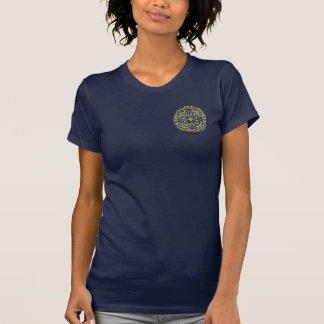 [700] Cruz celta [ouro com esmalte preto] Camiseta