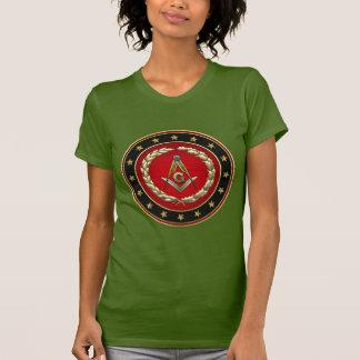 [700] Quadrado e compassos maçónicos [ó grau] Tshirts