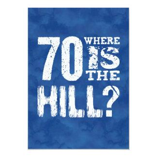 70 onde está o aniversário engraçado BL70Z do 70 Convite 12.7 X 17.78cm