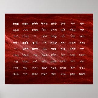 72 nomes da arte da meditação do deus pôster