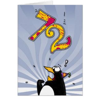 72nd aniversário - cartão da surpresa do pinguim