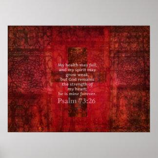 73:26 do salmo com cruz cristã bonita posters
