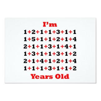 75 anos de vermelho velho do preto convite 12.7 x 17.78cm
