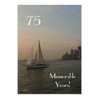 75 anos memoráveis/Aniversário Convite 12.7 X 17.78cm
