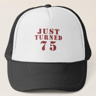 75 apenas girado aniversário boné
