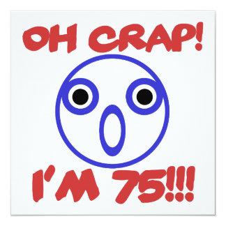 75th aniversário engraçado convite quadrado 13.35 x 13.35cm
