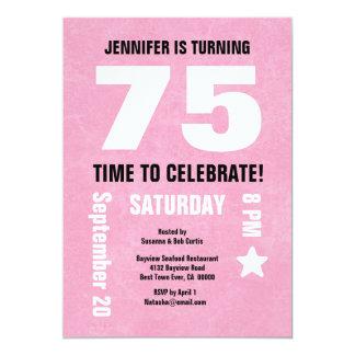 75th aniversário moderno ou alguma parte traseira convites personalizado