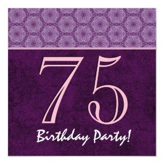 75th Aniversário ou algum teste padrão roxo V01 do