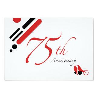 75th Aniversário (pássaros da modificação) Convite 8.89 X 12.7cm
