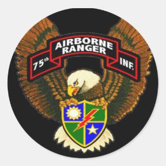 75th Autocolante no vidro traseiro do regimento de Adesivo