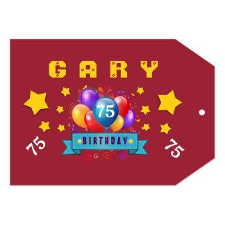 75th Balões do aniversário e estrelas festivos Convite 12.7 X 17.78cm