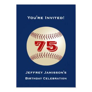 75th Basebol do convite de aniversário