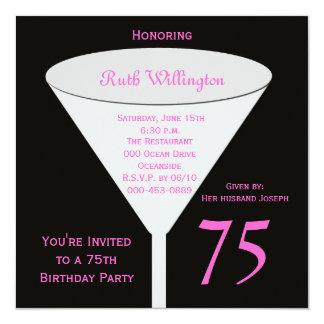 75th Brinde do convite de aniversário 75th